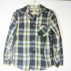 5/$15 Boys Plaid Print Button Down Shirt SZ 18